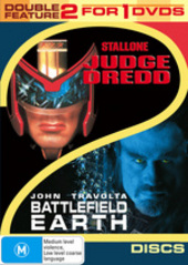 Judge Dredd / Battlefield Earth - Double Feature (2 Disc Set) on DVD