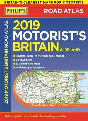 Philip's 2019 Motorist's Road Atlas Britain and Ireland A3 by Philip's Maps