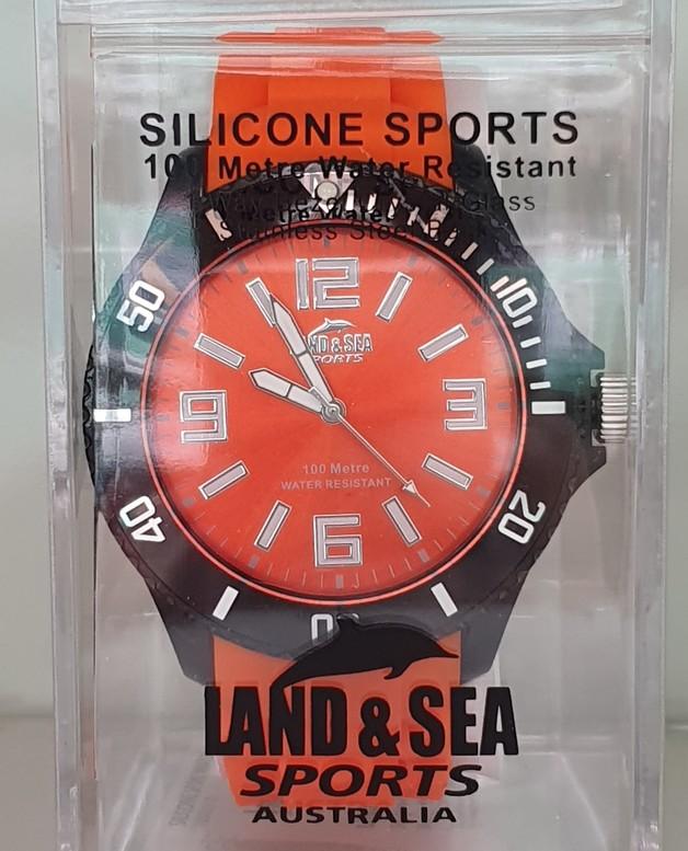Land & Sea Sports Funky Watch 100m Water Resistant - Orange (Medium)