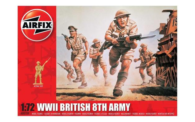 Airfix 1:72 WWII British 8th Army Scale Model Kit