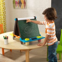 KidKraft: Tabletop Easel - Espresso With Brights