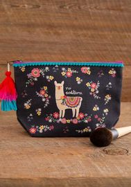 Natural Life: Canvas Cosmetic Pouch - No Probllama