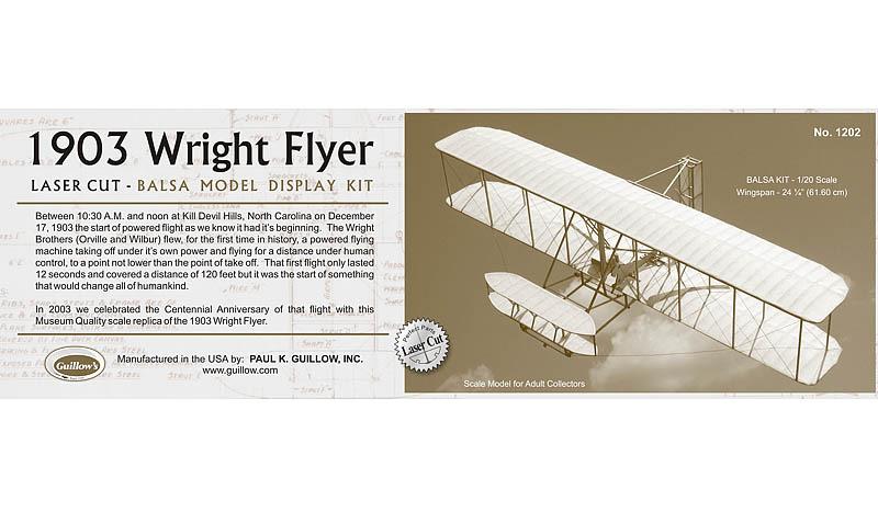 1903 Wright Flyer 1 20 Balsa Model Kit At Mighty Ape