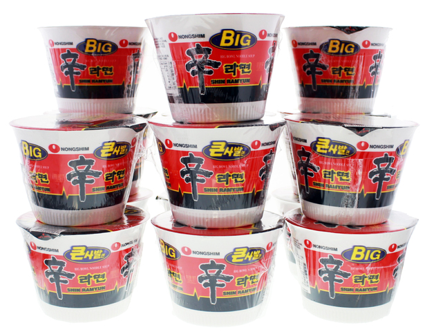 Nong Shim Big Noodle Cup Hot & Spicy 114g (16 Pack)