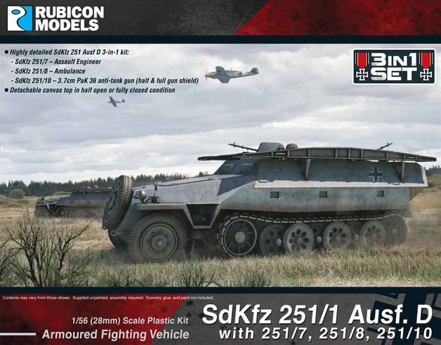 Rubicon 1/56 SdKfz 251D 3-in-1 Kit