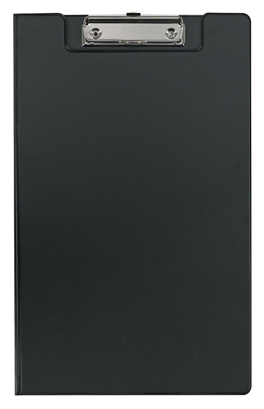 FM Foolscap PVC Clipboard With Flap - Black