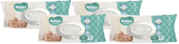 Huggies Baby Wipes Refill Shipper Pack - Fragrance Free (320 Wipes)