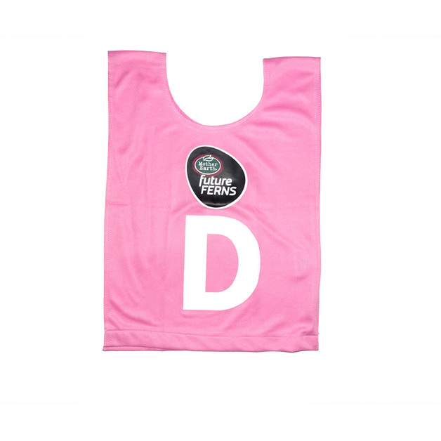 Mother Earth futureFERNS Netball Year 5&6 Bibs (Pink)