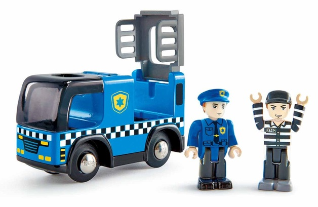 Hape: Police Car with Siren - Vehicle Playset