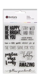 Rosie's Studio: Clear Stamps - Happy & Bright image