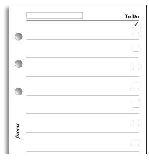 Filofax Personal - To Do Pad (20 Sheets)Filofax Personal - To Do Pad (20 Sheets) image