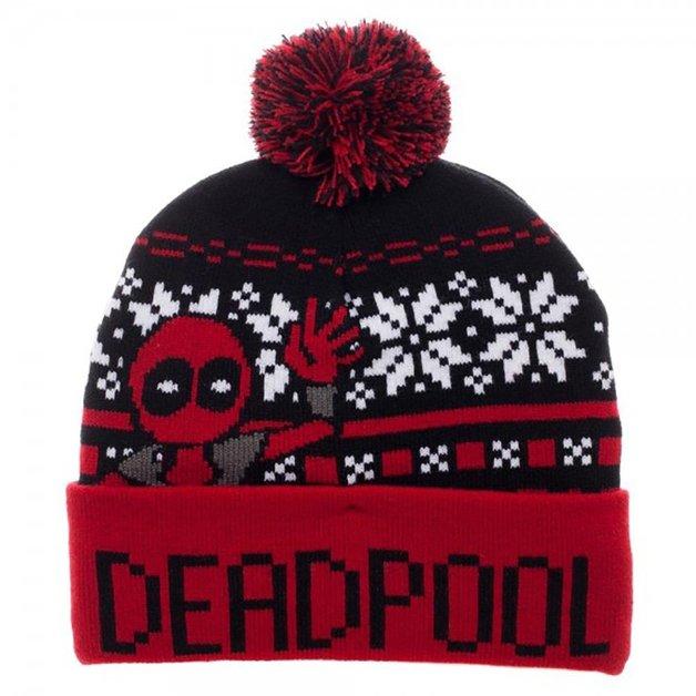 65b24e6b438 Marvel  Deadpool Fairisle Pom Beanie