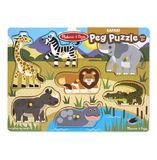 Melissa & Doug: Safari Wooden Peg Puzzle