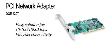 D-Link DGE-530T 32 BIT PCI Gigabit Adapter + Extra L/P Bracket image
