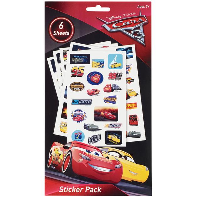 Disney Cars 3 6pg Sticker Book