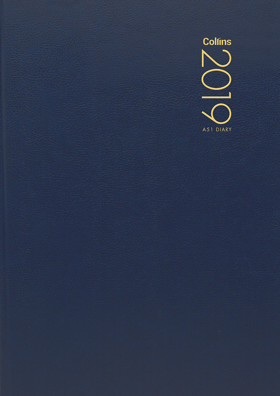 Collins 2019 Daily A5 Diary - Navy