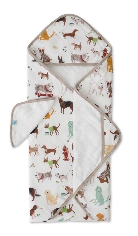 Little Unicorn: Hooded Towel & Wash Cloth Set - Woof