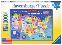 Ravensburger: USA States Map - 100pc Puzzle