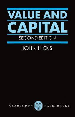 Value and Capital by J. R. Hicks image
