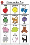 Learning Can Be Fun - Colours Are Fun - Wall Chart