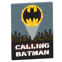 Calling Batman Light Up Canvas