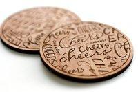 Cardtorial Cheers Coasters image