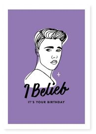 Famous Flames Birthday Card - Belieb image