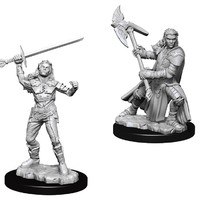 D&D Nolzur's Marvelous: Unpainted Miniatures - Female Half-Orc Fighter image
