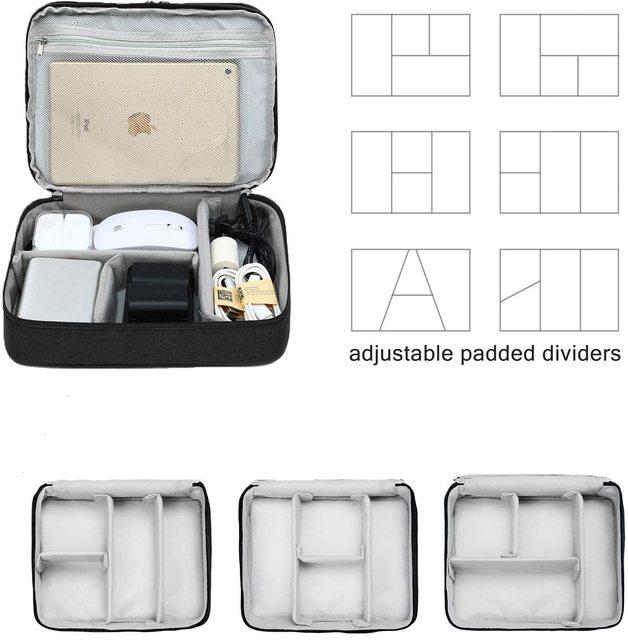 Three-layer Electronic Storage Bag - Black