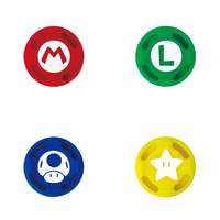 Switch Analog Cap Set (Mario) by Hori for Switch
