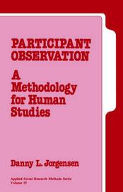 Participant Observation by Danny L. Jorgensen image