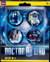 Doctor Who 11th Doctor Pin Set of 4