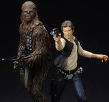Star Wars Han Solo and Chewbacca ArtFx+ 1/10 Statue Set