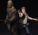 Star Wars Han Solo and Chewbacca ArtFx+ 1/10 Statue Set