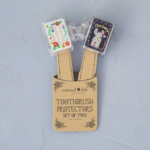 Natural Life: Toothbrush Cover - Set of 2 Reason/Live