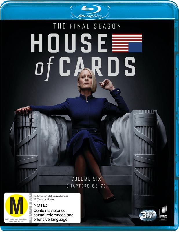 House Of Cards: Season 6 (3 Disc Set) on Blu-ray