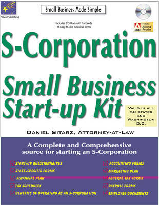S-Corporation: Small Business Start-Up Kit by Daniel Sitarz image