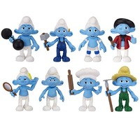 The Smurfs Figure 2 Pack Wave 2 - Panicky Smurf and Painter Smurf image