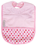 Silly Billyz Pocket Bib (Pale Pink/Dots)