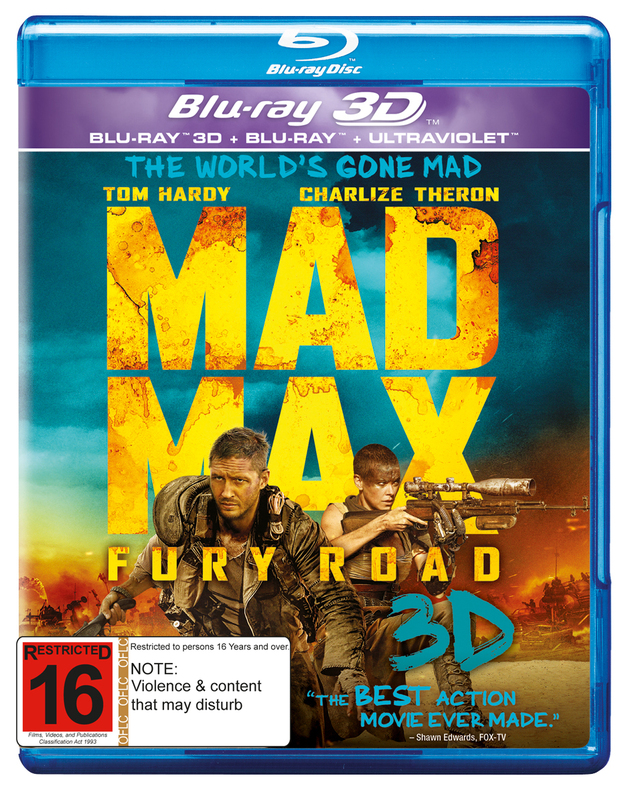 Mad Max: Fury Road 3D on Blu-ray, 3D Blu-ray