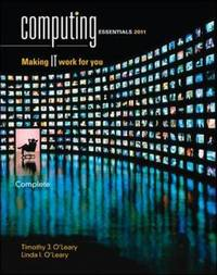 Computing Essentials 2011: 2011 by Timothy J O'Leary image
