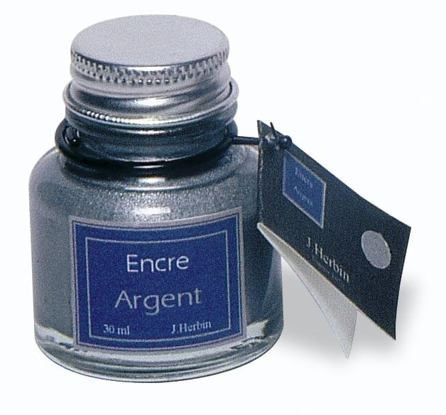 J Herbin: Calligraphy Ink - Silver (30ml)