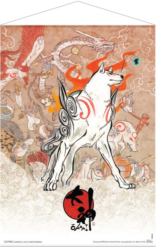Okami: Amaterasu and Celestial Brush Gods - Wallscroll