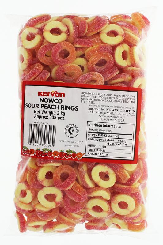 Kervan Sour Peach Rings (2kg)