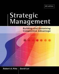 Strategic Management: Building and Sustaining Competitive Advantage by David Lei image