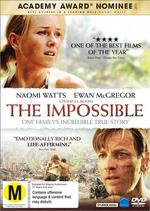 The Impossible on DVD