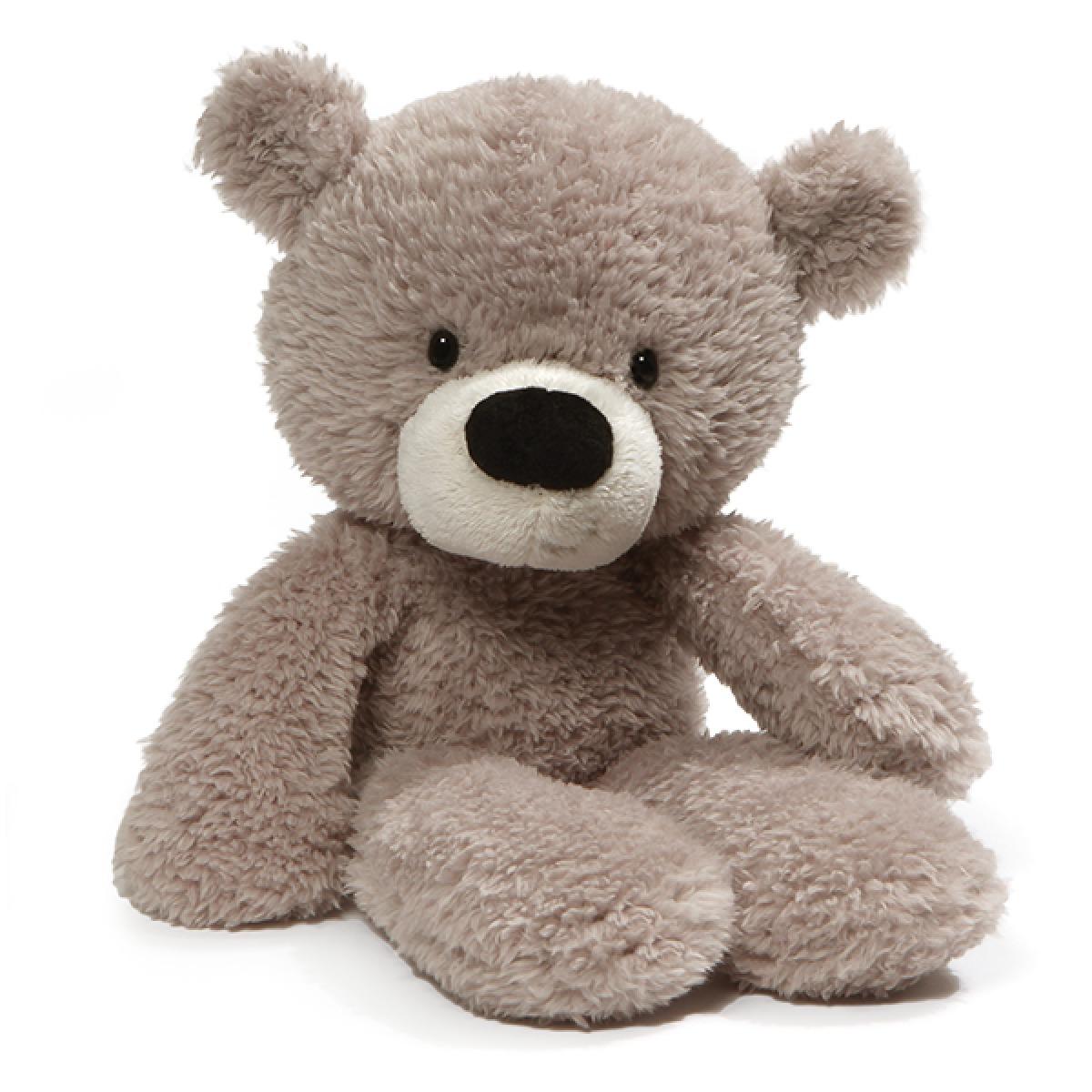 "Gund: Fuzzy Grey Bear - 13"" Plush image"
