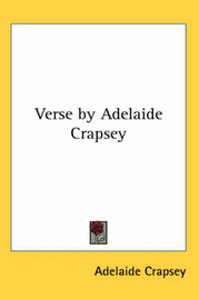 Verse by Adelaide Crapsey by Adelaide Crapsey image