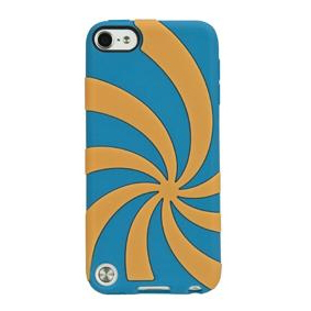 Gecko Swirl Case for iPod Touch 5G (Blue/Orange)