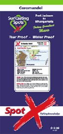 Spot X Coromandel Map: Surfcasting Spots by X Spot